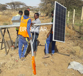 Ethiopian solar street light project-BR SOLAR
